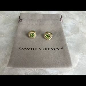 David Yurman 14K Faceted Peridot Albion Earrings